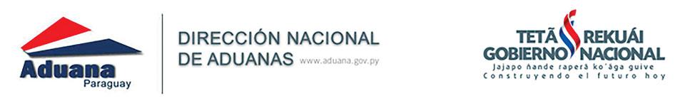 Paraguay Aduanas logo header